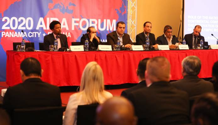 "AIBA Interim President Mohamed Moustahsane claimed the inaugural Continental Forum in Panama was a ""great success"" ©AIBA"